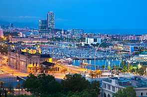 Blick auf den Hafen von Barcelona