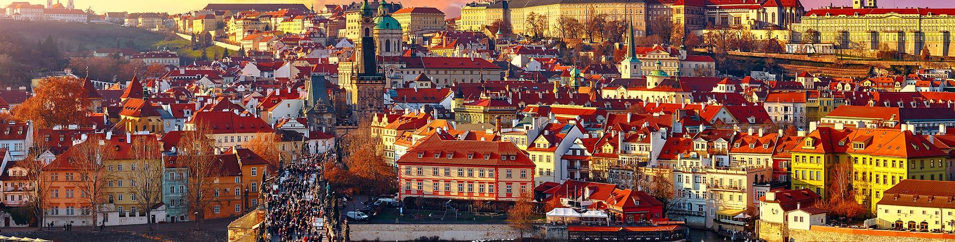 Blick auf das Stadtzentrum von Prag